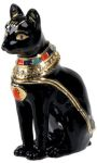 Egyptian Bast Cat Enameled Jewelry Box