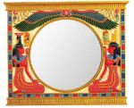 Ancient Egyptian Isis And Nephthys Wall Mirror