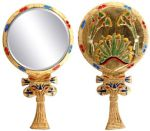 Ancient Egyptian Lotus Hand Mirror