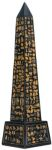 Ancient Egyptian Obelisk - Black Finish Statue