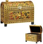 Ancient Egyptian Painted Jewelry Chest