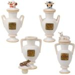 Ancient Egyptian Vases For Yuya (set Of 4)