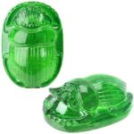 Ancient Egypt - Translucent Green Scarab Statue