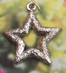 Embossed Star  Jewelry Pendant