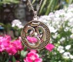 Encircled Om (aum) Sign - Engraved Jewelry Pendant