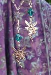 Fairy Fantasy Earrings - Swarovski Teal Crystal