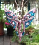 Glittering Butterfly Fairy Necklace