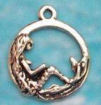 Moon Mermaid Pendant - Small