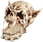 Fanged Demon Skull Figurine