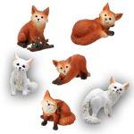 Foxes - Set Of 6 Figurine Statues