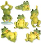 Frogs - Set Of 6 Figurine Statues