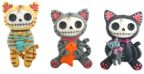 Furry Bones Mao-mao Cat Magnets (Set of 6)