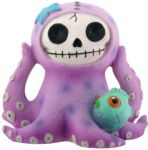 Furry Bones Purple Octopee Octopus Statue