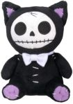 Furry Bones Small Black Mao-mao Cat Plush Toy