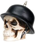 German Spike Biker Skull Figurine