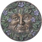 Green Man Plaque - Spring