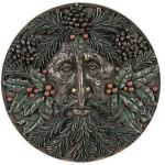 Green Man Plaque - Winter
