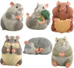 Hamsters (set Of 6) Statue