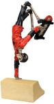 Skeleton Bike Rider Hand Plant Figurine