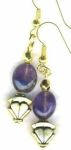 Amethyst Art Deco Handmade Earrings