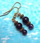 Amethyst Treasure - Amethyst Handmade Earrings