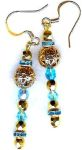 Aqua Splendor Renaissance Earrings