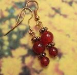 Handmade Jewelry -  Carnelian Treasure - Carnelian Handmade Earrings