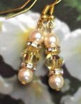 Jonquil And Pearl Wedding Earrings