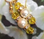 Handmade Earrings Jonquil and Pearl Wedding Earrings