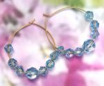 Handmade Jewelry -  Light Sapphire Blue Crystal Hoop Earrings