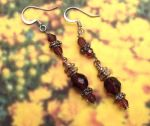 Mistress Of Byzantium Amethyst Crystal Earrings