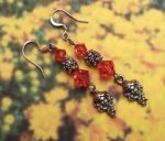 Salmon Pink Crystal Goddess Earrings