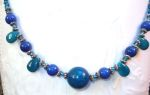 Handmade Jewelry Blue Spectrum Gemstone Necklace