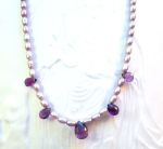 Handmade Jewelry Lavender Princess Gemstone Necklace