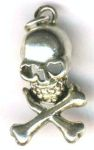Heart Eyes Skull And Crossbones Pendant - Med.