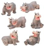 Hippos - Set Of 6 Figurine Statues