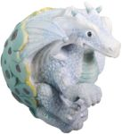 Ice Blue Dragon Hatching Figurine Statue