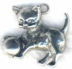 Kitten With Ball Jewelry Pendant
