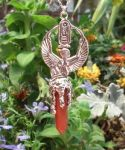 Kneeling Isis Pendant With Crystal Point