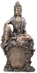 Guanyin Goddess of Compassion On Rock Statue