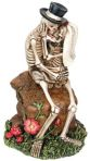 Skeleton Lovers Kissing On Rock