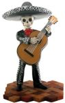 Mariachi Band Skeleton Bass Player - Black