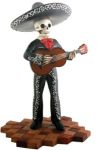 Mariachi Band Skeleton Guitar Player - Black - B