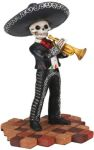 Mariachi Band Skeleton Trumpet Player - Black