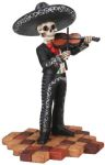 Mariachi Band Male Skeleton Violin Player - Black