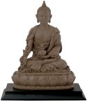 Medicine Buddha Statue - Clay Finish
