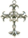 Medium Ornate Cross Celtic Jewelry Pendant