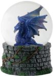 Midnight Dragon Waterglobe (65mm) Statue