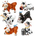 Milk Cows - Set Of 6 Figurine Statues