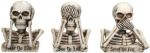 No Evil Skulls Figurine Statues (set Of 3)